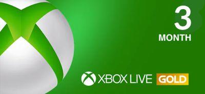 Xbox 3 Month Live GOLD Membership