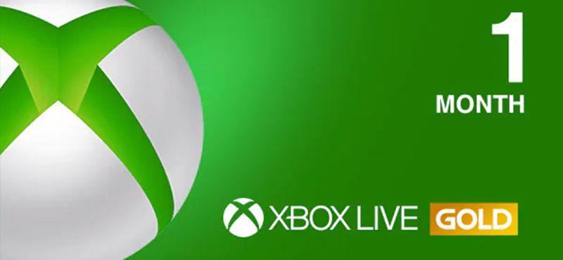 Xbox Live Gold 1 Month Membership